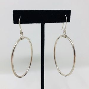 Jewelry - Sterling silver oval shaped earring, 7g